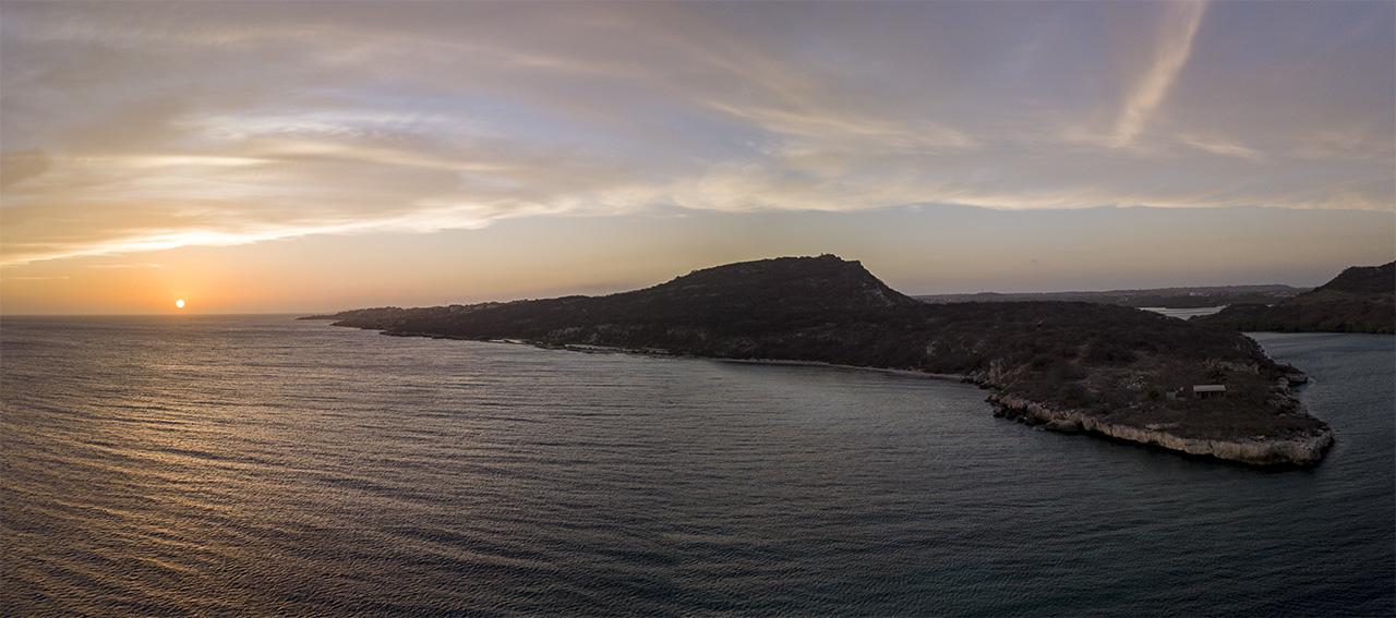 Hilton Beach sunset view, Curacao, Caribbean